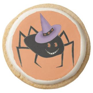 Spider in Hat Shortbread Cookies Round Premium Shortbread Cookie