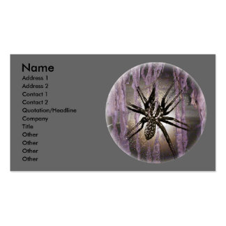 Spider in Purple Business Card Templates