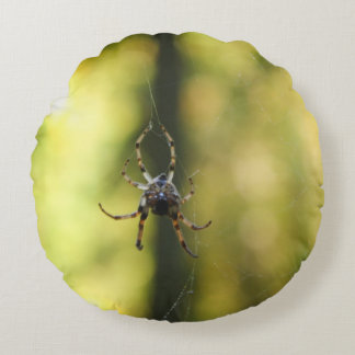 Spider in the Woods Round Pillow