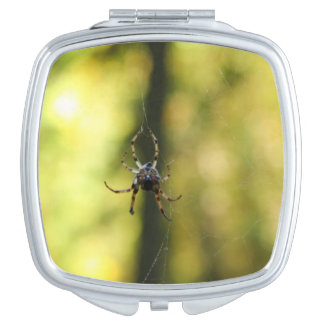 Spider in the Woods Travel Mirror