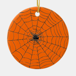 Spider in Web Ceramic Ornament