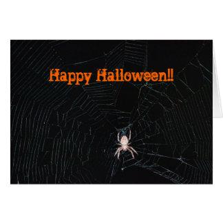 Spider in Web Halloween Card