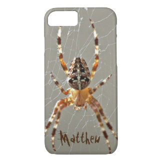 Spider in Web iPhone 7 Case