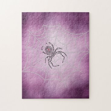 Halloween Themed Spider in Web Jigsaw Puzzle