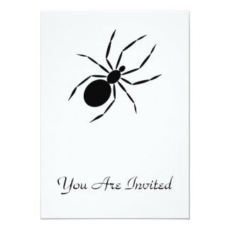 """Spider 5"""" X 7"""" Invitation Card"""