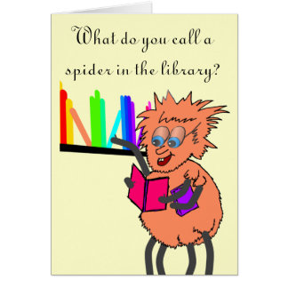 Spider joke Birthday Card