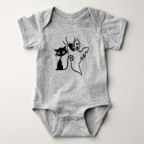 Spider, Kitten & Ghost Baby Jersey Bodysuit