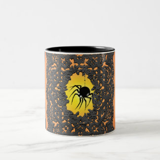 SPIDER, LACE, & JACK by SHARON SHARPE Two-Tone Coffee Mug