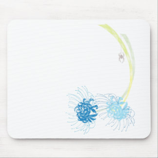 Spider Lily (Blue) Mouse Pad