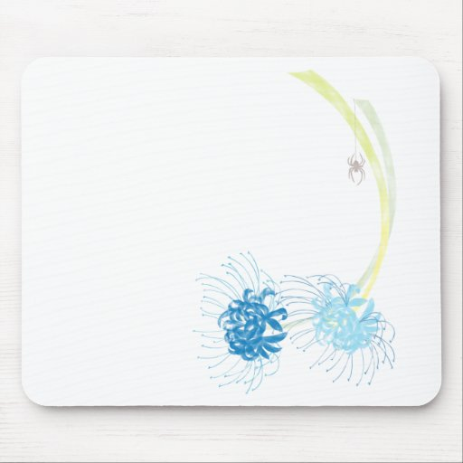 Spider Lily (Blue) Mousepad