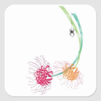 Spider Lily Square Sticker
