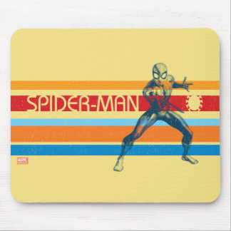 Spider-Man | 70s Multi-Colored Bar Graphic Mouse Pad