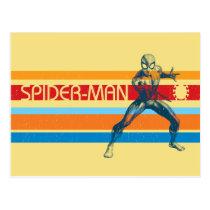 Spider-Man | 70s Multi-Colored Bar Graphic Postcard