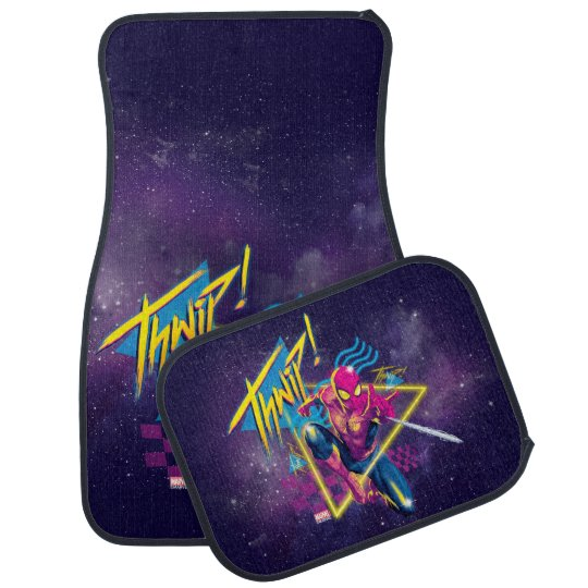 """These Creative Man Cave Ideas Will Help You Relax In Style: 80's Galactic """"Thwip"""" Graphic Car Floor Mat"""