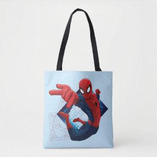 Spider-Man Action Character Badge Tote Bag