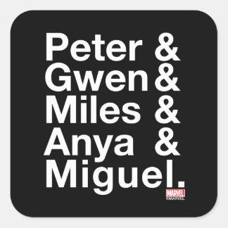 Spider-Man Alternates Ampersand Graphic Square Sticker