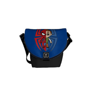 Spider-Man and Peter Parker Dual Identity Messenger Bag