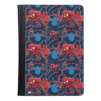Spider-Man and Spider Logo Pattern iPad Air Case