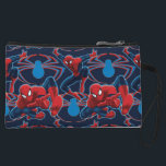 """Spider-Man and Spider Logo Pattern Wristlet<br><div class=""""desc"""">Spider-Man 