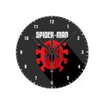 Spider-Man | Art Deco Spider-Man Emblem Round Clock