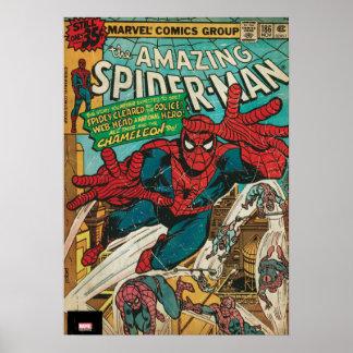 Spider-Man asombroso #186 cómico Póster
