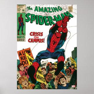 Spider-Man asombroso #68 cómico Póster