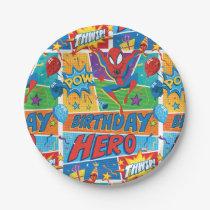 Spider-Man Birthday Hero Paper Plate