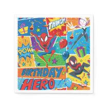 Spider-Man Birthday Hero Pattern Napkins