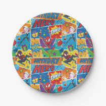 Spider-Man Birthday Hero Pattern Paper Plate