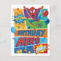 Spider-Man Birthday Hero Postcard