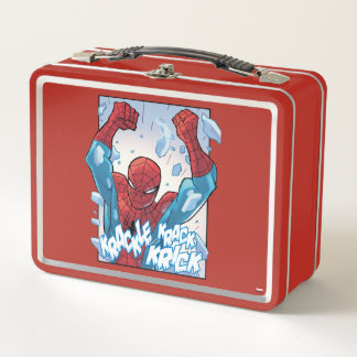 Spider-Man Breaking Glass Metal Lunch Box