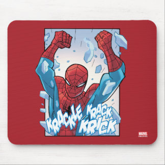 Spider-Man Breaking Glass Mouse Pad