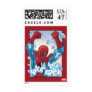 Spider-Man Breaking Glass Postage Stamp