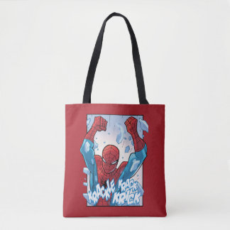 Spider-Man Breaking Glass Tote Bag