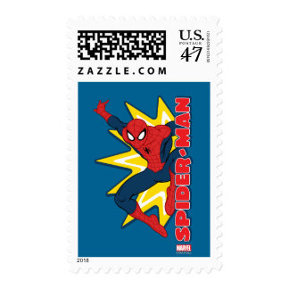 Spider-Man Callout Graphic Postage Stamp