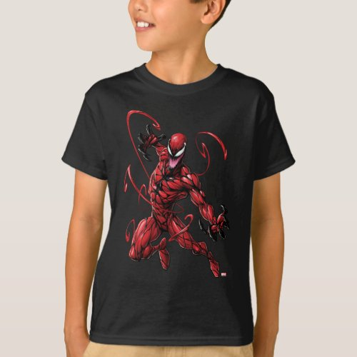 Spider_Man  Carnage Leaping Forward T_Shirt