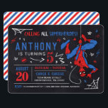 "Spider-Man Chalkboard Birthday Invitation<br><div class=""desc"">Invite all your family and friends to your child's Spider-Man themed Birthday with these awesome chalkboard Birthday invites. Personalize by adding all your party details!</div>"