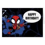 Spider-Man | Chibi Spider-Man Web-Swinging Card