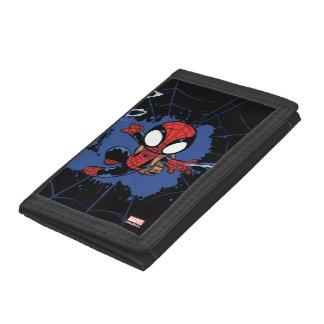 Spider-Man | Chibi Spider-Man Web-Swinging Trifold Wallet