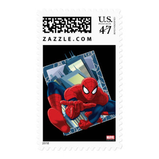 Spider-Man City Character Graphic Postage