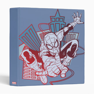 Spider-Man & City Sketch 3 Ring Binder