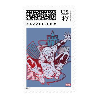 Spider-Man & City Sketch Postage