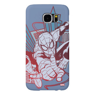 Spider-Man & City Sketch Samsung Galaxy S6 Case