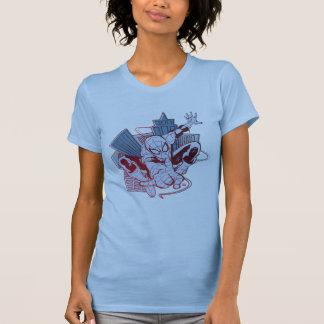 Spider-Man & City Sketch Shirt