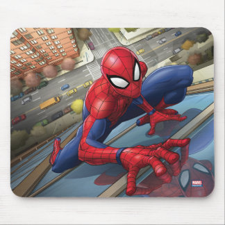 Spider-Man | Climbing Up Building Mouse Pad