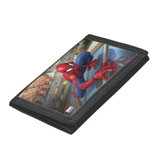 Spider-Man | Climbing Up Building Trifold Wallet