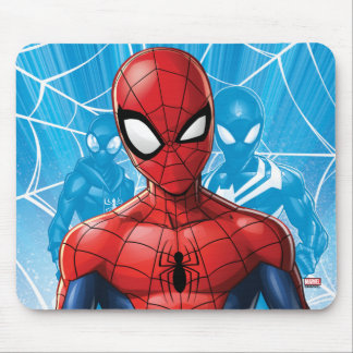 Spider-Man | Close-up Expression Comic Panel Mouse Pad