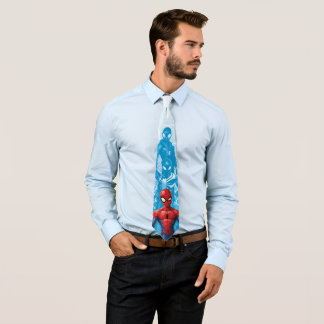 Spider-Man | Close-up Expression Comic Panel Neck Tie