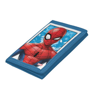 Spider-Man | Close-up Expression Comic Panel Trifold Wallet