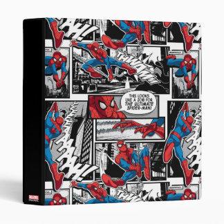 Spider-Man Comic Panel Pattern 3 Ring Binder